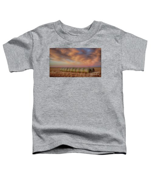 Hay Bales On The High Plains Toddler T-Shirt
