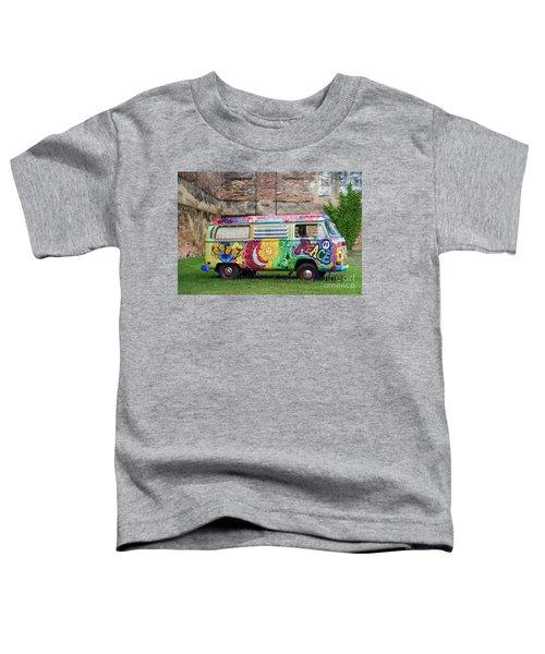 Hippie Dippie Vw Micro Bus Toddler T-Shirt