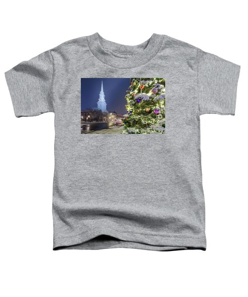 Holiday Snow, Market Square Toddler T-Shirt
