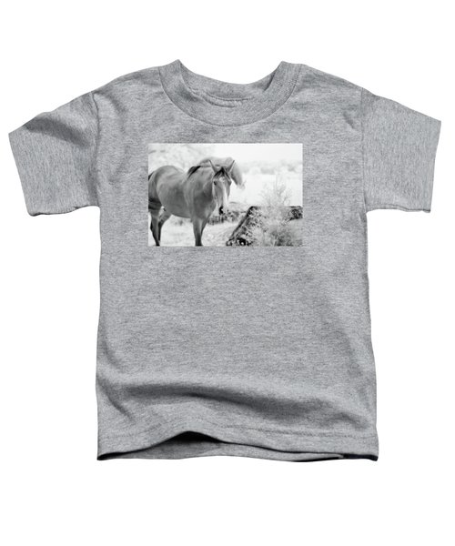 Horse In Infrared Toddler T-Shirt
