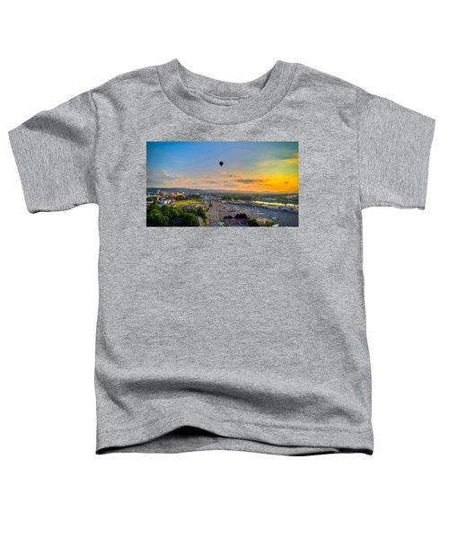 Hot Air Ballon Sunset Toddler T-Shirt