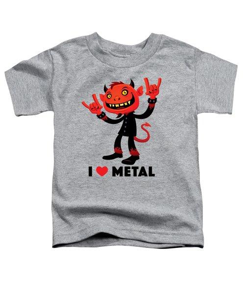 I Love Metal Devil Toddler T-Shirt