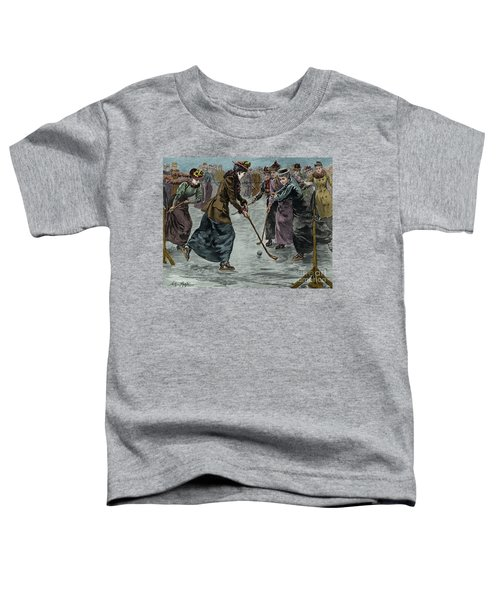Ice Hockey  Ladies Match On The Lake In Wimbledon Park Toddler T-Shirt