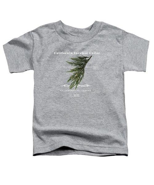 Incense Cedar - White Text Toddler T-Shirt