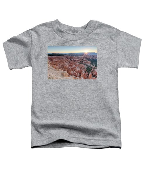 Inspiration Point Sunrise Bryce Canyon National Park Summer Solstice Toddler T-Shirt