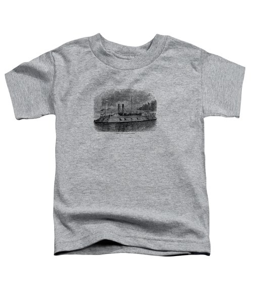 Ironclad River Gunboat Engraving - Union Civil War Toddler T-Shirt