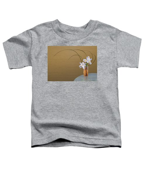 Japonica Iris In Bamboo Vase Toddler T-Shirt