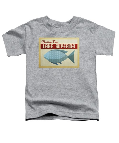 Lake Superior Blue Fish Toddler T-Shirt