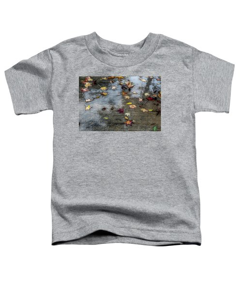 Toddler T-Shirt featuring the photograph Leaves In The Rain by Alison Frank