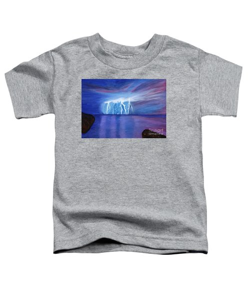Lightning On The Sea At Night Toddler T-Shirt