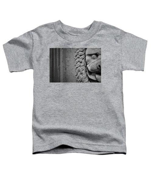 Lion Statue Portrait Toddler T-Shirt