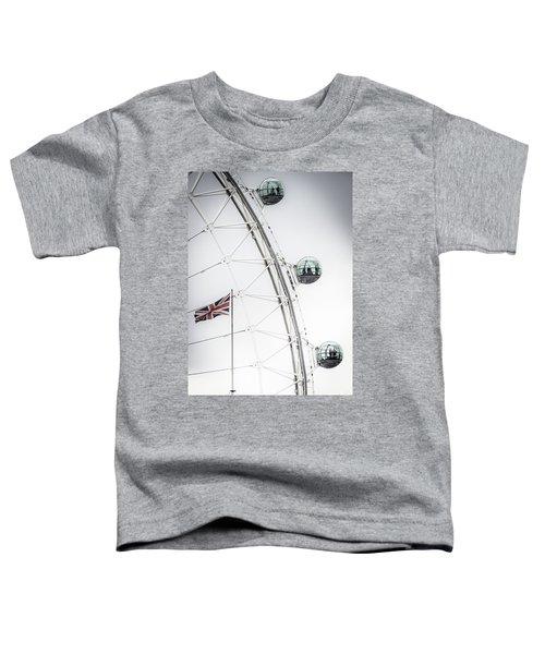 London Eye And Union Jack Toddler T-Shirt