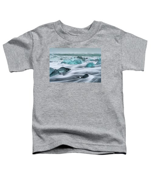 Long Exposure At The Jokulsarlon Ice Beach Toddler T-Shirt