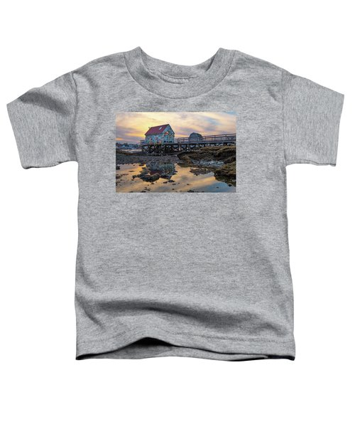Low Tide Reflections, Badgers Island.  Toddler T-Shirt