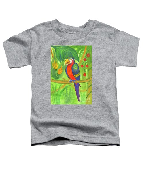 Macaw Parrot In The Wild Toddler T-Shirt