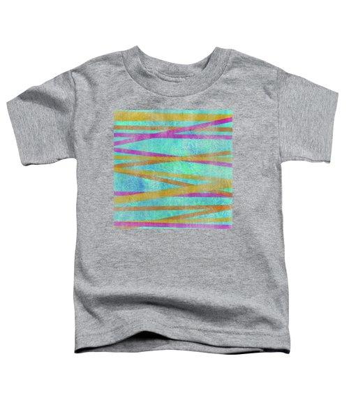 Malaysian Tropical Batik Strip Print Toddler T-Shirt