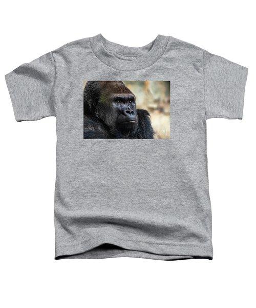 Male Western Gorilla Looking Around, Gorilla Gorilla Gorilla Toddler T-Shirt