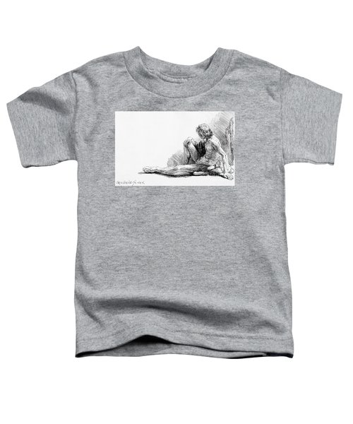 Man Seated On The Ground, 1646 Toddler T-Shirt