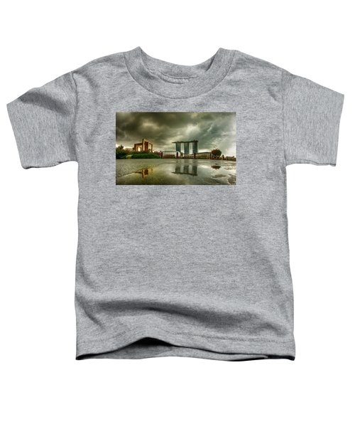 Toddler T-Shirt featuring the photograph Marina Bay Sands Hotel by Chris Cousins
