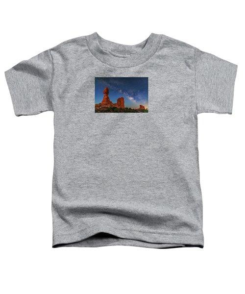 Milky Way Over Balanced Rock At Twilight Toddler T-Shirt