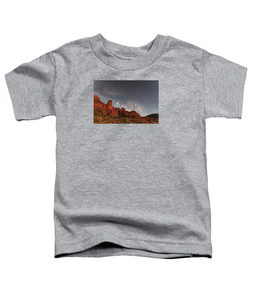 Milky Way Over Fisher Towers Toddler T-Shirt