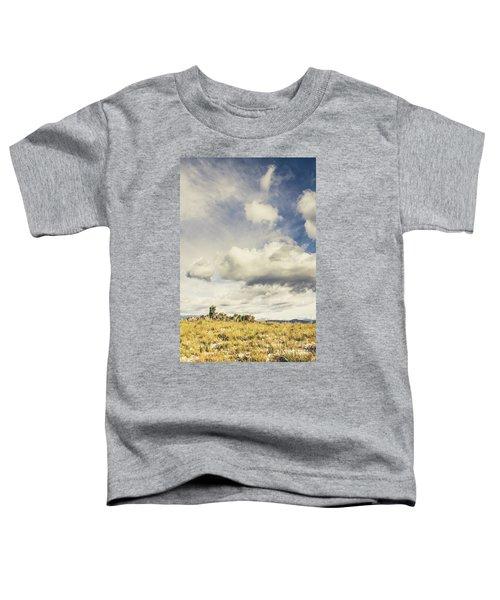 Minimal Mountaintop Meadow Toddler T-Shirt