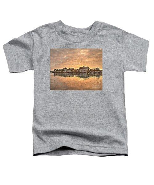 Monhegan Sunrise - Harbor View Toddler T-Shirt