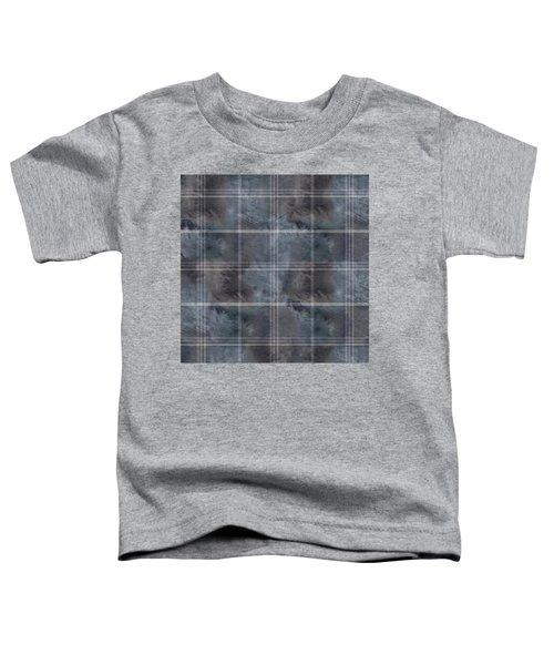 Moody Blue Plaid Toddler T-Shirt