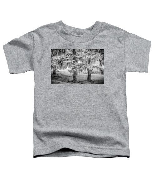 Toddler T-Shirt featuring the photograph Moss Laden Trees 4132 by Donald Brown