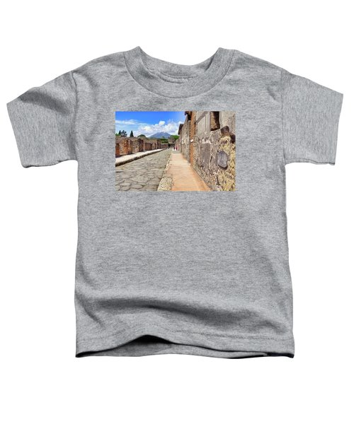 Mount Vesuvius And The Ruins Of Pompeii Italy Toddler T-Shirt