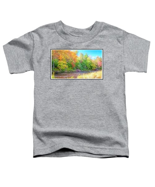 Mountain Stream In Early Autumn Toddler T-Shirt