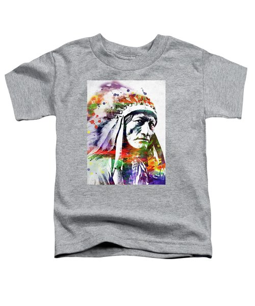 Native American Indian Watercolor 5 Toddler T-Shirt