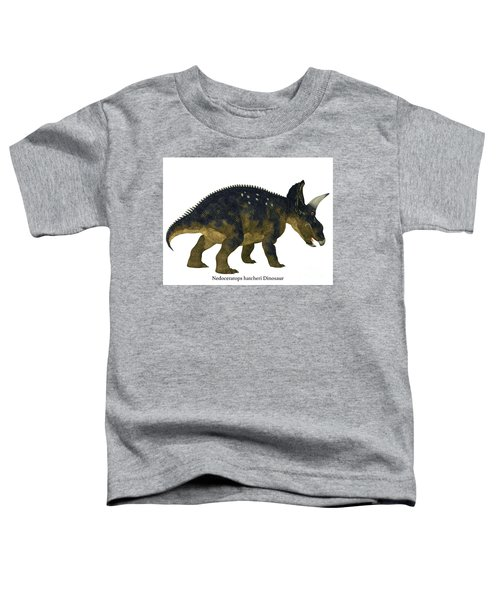 Nedoceratops Dinosaur Tail With Font Toddler T-Shirt