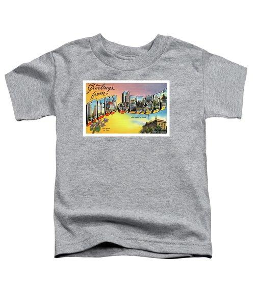 New Jersey Greetings - Version 2 Toddler T-Shirt