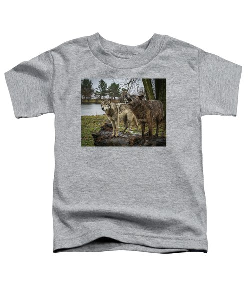 Noisy Wolf Toddler T-Shirt