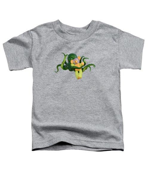 Octopus Green And Bear Toddler T-Shirt
