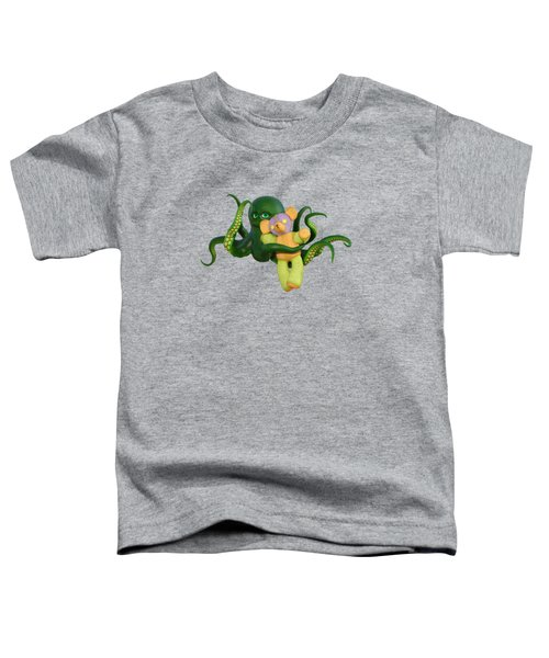 Octopus Green And Bear Toddler T-Shirt