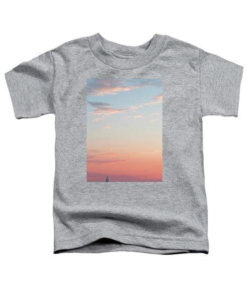 Outer Banks Sailboat Sunset Toddler T-Shirt