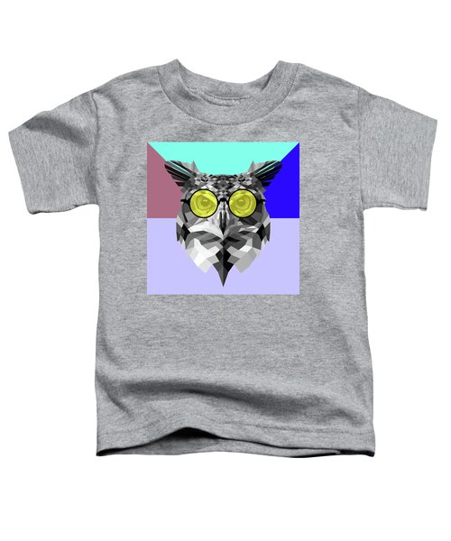 Owl In Yellow Glasses Toddler T-Shirt