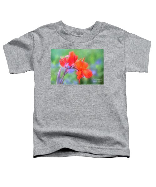 Painted Canna In The Evening Light Toddler T-Shirt
