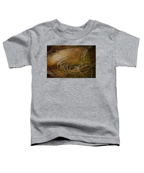 Palm Tree Straw Toddler T-Shirt
