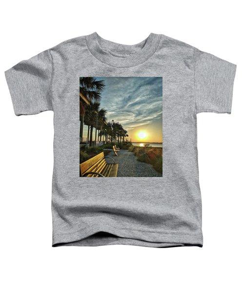 Palm Tree Sunset Toddler T-Shirt