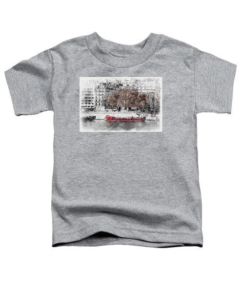 Paris Red Houseboat Toddler T-Shirt