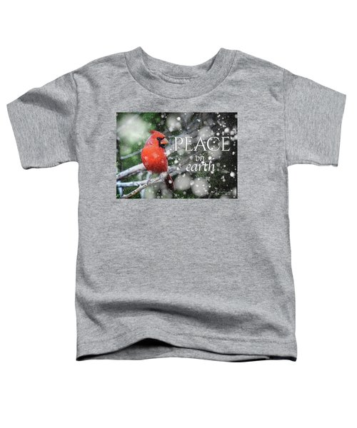 Peace On Earth W/cardinal Toddler T-Shirt