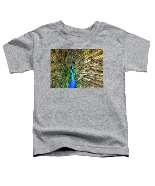Peacock Full Bloom Toddler T-Shirt