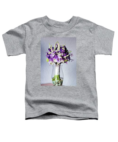 Perfect Bridal Bouquet For Colorful Wedding Day With Natural Flowers. Toddler T-Shirt