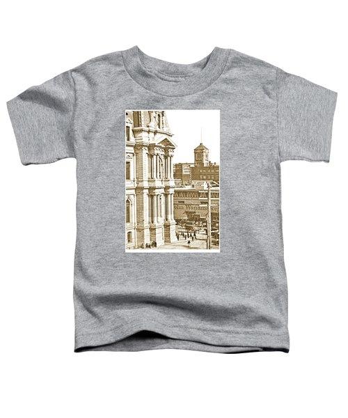 Philadelphia City Hall And Wanamaker Store C 1900 Vintage Photog Toddler T-Shirt
