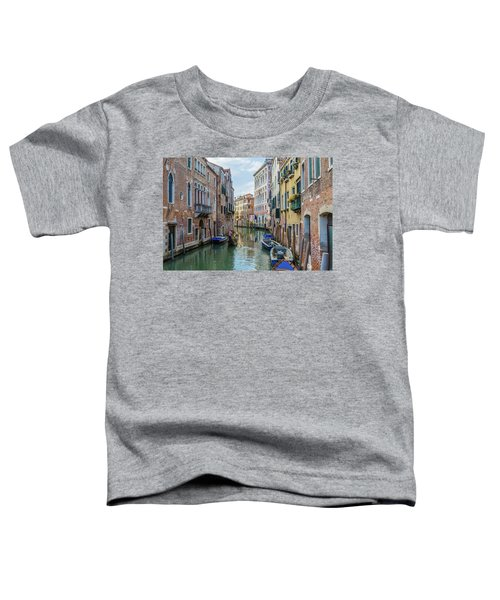 Gondolier On Canal Venice Italy Toddler T-Shirt