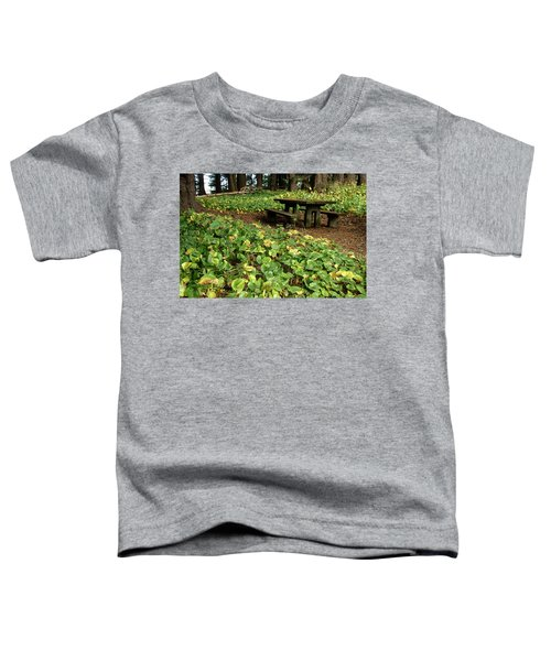 Picnic  Table In The Forest  Toddler T-Shirt
