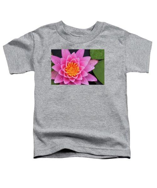 Pink Petals In The Rain  Toddler T-Shirt